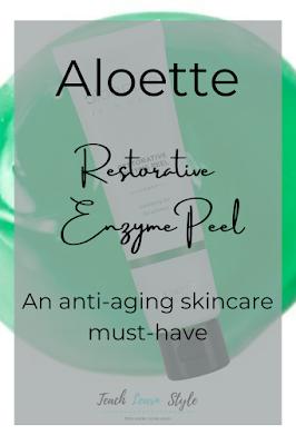 Aloette Restorative Enzyme Peel, Aloette skincare, Aloette exfoliator