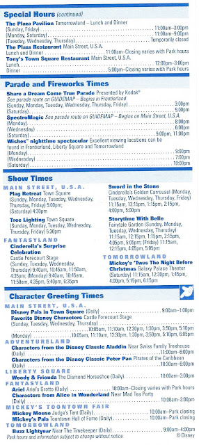 Times Guide Magic Kingdom November 28-December 4 2004