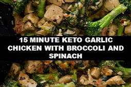 #The #World's #most #delicious #15 #Minute #Keto #Garlic #Chicken #with #Broccoli #and #Spinach