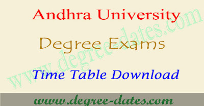 AU degree exam time table 2018 andhra university ug results