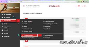 Cara Print Resit Pembayaran CIMB Clicks