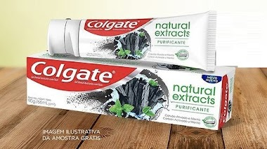 Amostras Grátis: Resgate a sua amostra de Colgate Natural Extracts Purificante