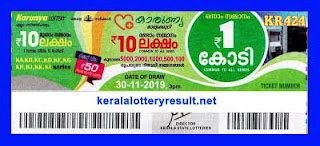 kerala lottery Result 30-11-2019 karunya KR 424 -