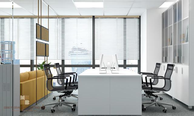 Phòng làm việc đơn giản hiện đại