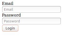 html login form