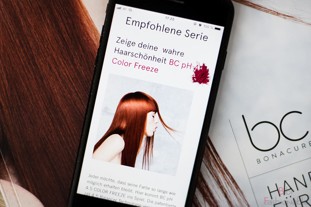 Schwarzkopf Professional Hair Expert App Ergebnis