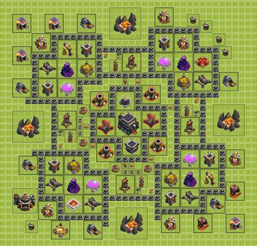 Clash of Clans Town Hall 9 Hibrid Type