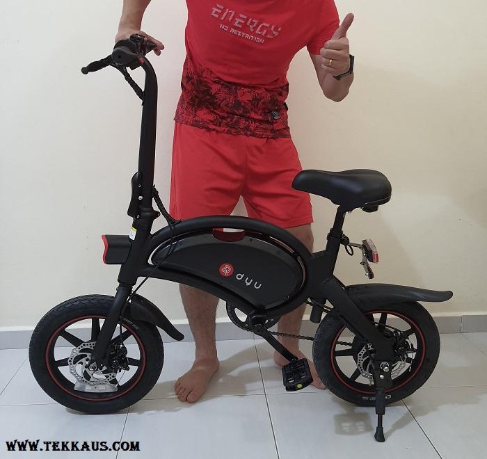 DYU D3+ Electric Bike Adjustable Seat Height