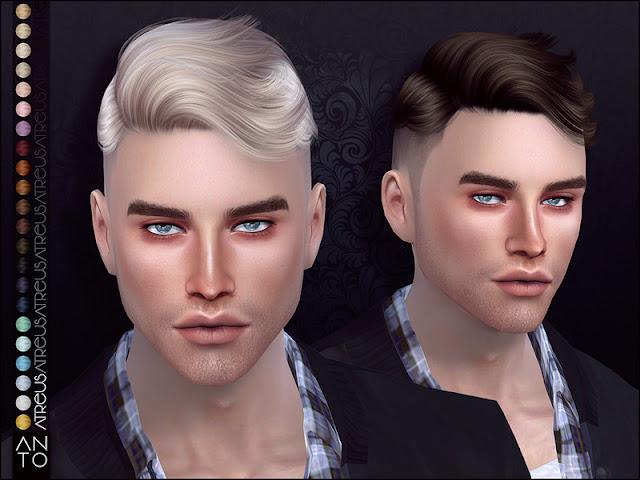 Мужские короткие прически для The Sims 4 со ссылками на скачивание