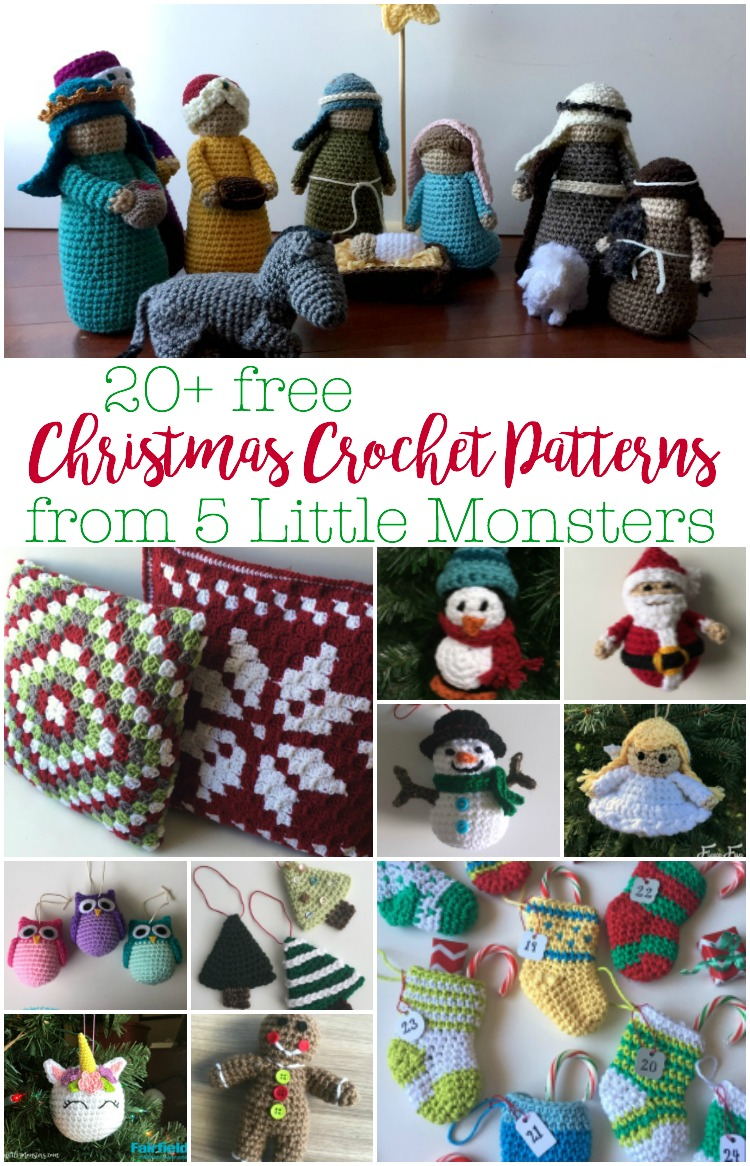 5 Little Monsters: Christmas in July: 20+ Free Christmas Crochet ...