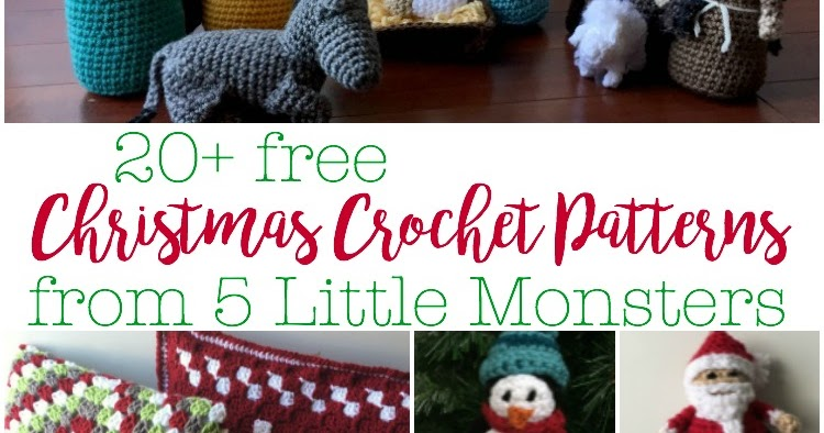 5 Little Monsters Christmas In July 20 Free Christmas Crochet