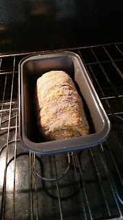 Whole Grain Carrot Chia & Honey Bread. Final rise before baking.