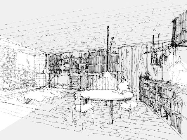 狭小都市型二世帯住宅の収納計画をとおして 子世帯 リビング・ダイニングのイメージ