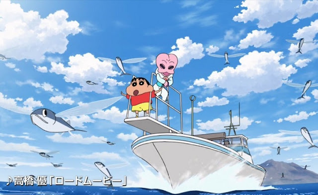 Crayon Shin-chan Movie 25: Shin-chan Shuurai! Uchuujin Shiriri (2017) Subtitle Indonesia