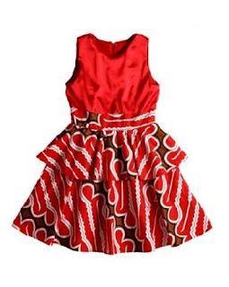 Dress batik untuk anak perempuan