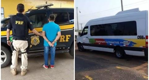 MA: Homem com mandado  por tráfico de  drogas é preso dirigindo van
