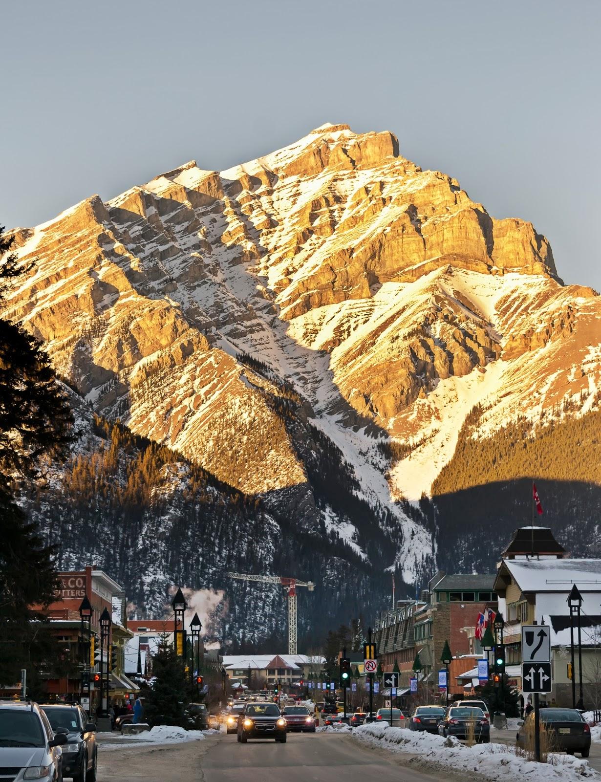 Banff Village in Winter, Canada