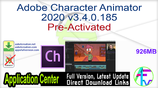 Adobe Character Animator 2020 v3.4.0.185 Pre-Activated