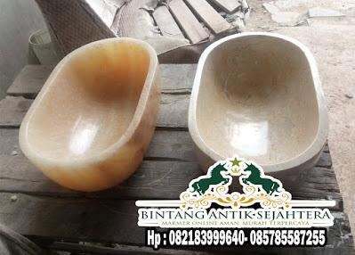 Wastafel Onyx dan Marmer Oval