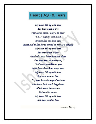 Loss of a dog poem dog death poem of heart and tears Isha Mysty
