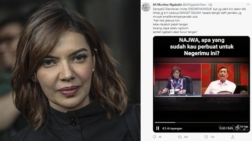 Najwa Shihab Sentil Video Hoaks 'Sampah Demokrasi' Ngabalin, Begini Katanya
