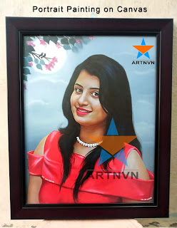 Top Best Professional Oil Canvas Portrait Photo Painting Artist in Hyderabad Telangana INDIA