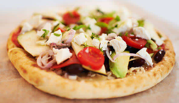 Pita pizza easy-to-prepare