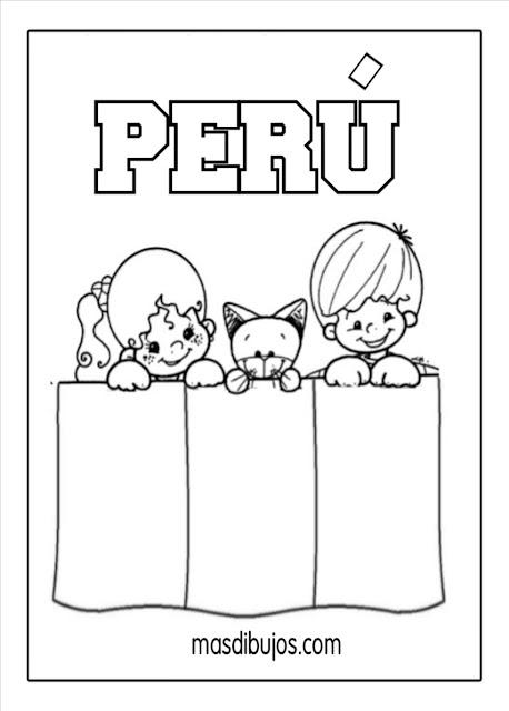 pintar bandera Perú.