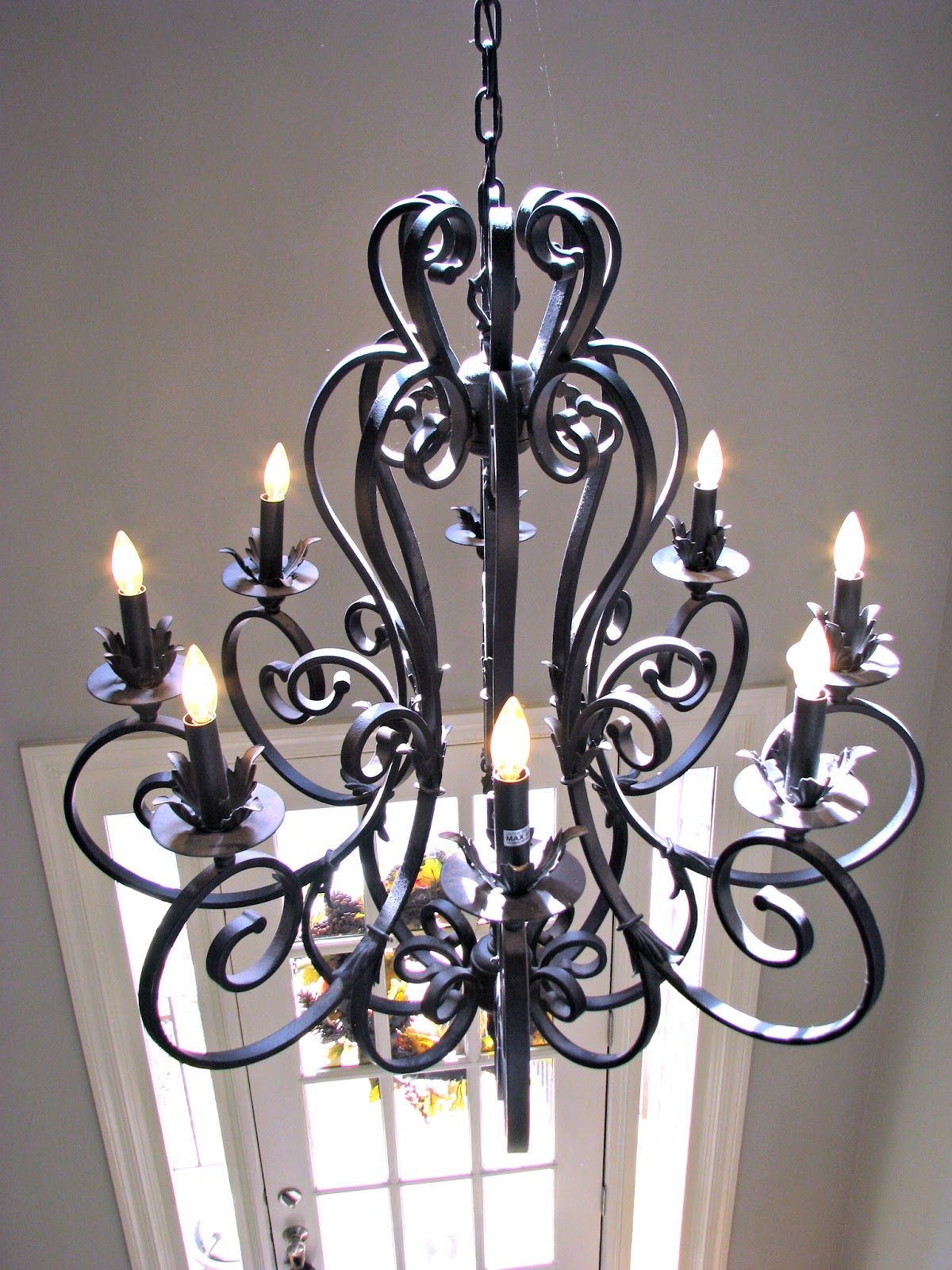 Foyer Chandelier Wrought Iron : Homemadeville your place for homemade inspiration home