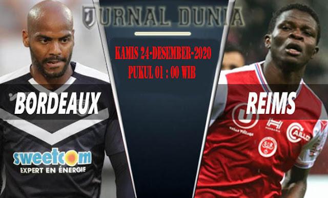 Prediksi Bordeaux vs Reims, Kamis 24 Desember 2020 Pukul 01.00 WIB