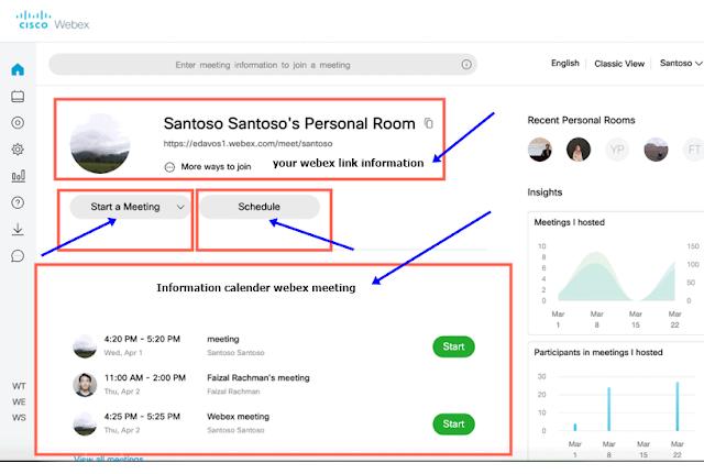 Webex Meetings Interface Application