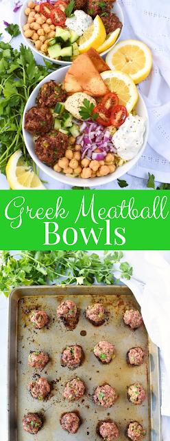 Greek Meatballs Bowls recipe