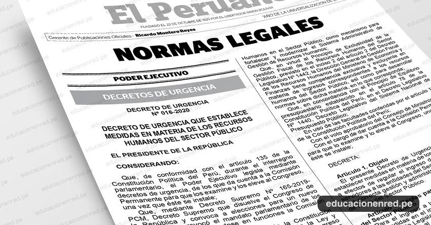 Conoce las nuevas reglas para el ingreso de personal a las entidades públicas. Toda la información aquí (D. U. N° 016-2020)