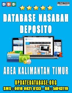 Jual Database Nasabah Deposito Kalimantan Timur