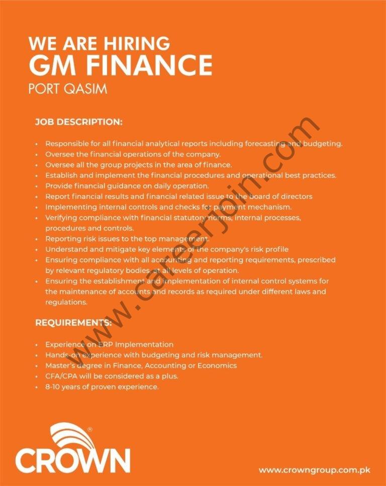 crowngroup.com.pk Jobs 2021 - Crown Group of Companies Jobs 2021 in Pakistan