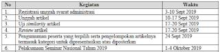 Jadwal Seminar Nasional II 2019