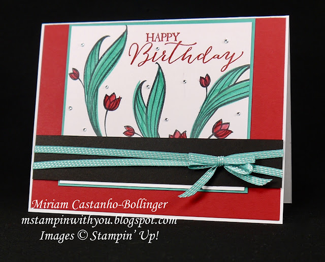 Miriam Castanho-Bollinger, #mstampinwithyou, stampin up, demonstrator, dsc, birthday card, lovely wishes stamp set, butterfly basics stamp set, su