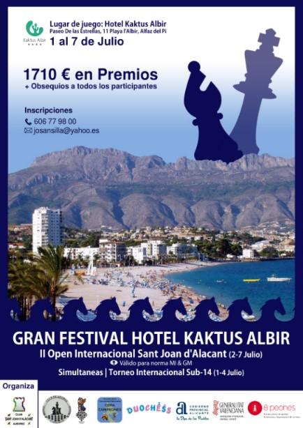 Festival Internacional de Ajedrez Hotel Kaktus Albir <br />(1 al 7 Julio 2019)
