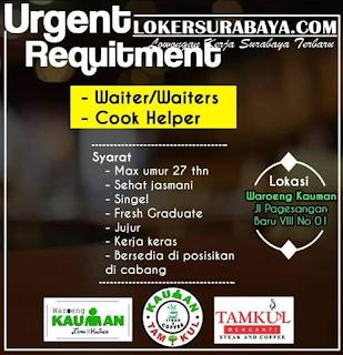 Loker Surabaya Terbaru di Waroeng Kauman Juni 2019