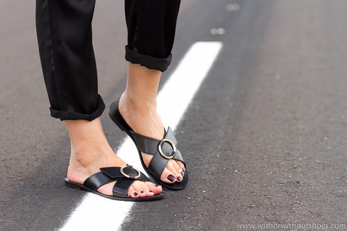 Blogger Adicta a los zapatos con sandalias planas comodas y bonitas