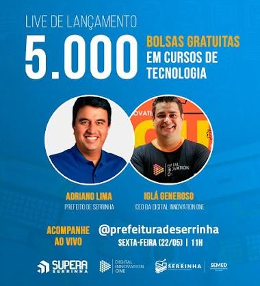 Prefeitura de Serrinha e startup vão distribuir 5 mil bolsas gratuitas em cursos de tecnologia