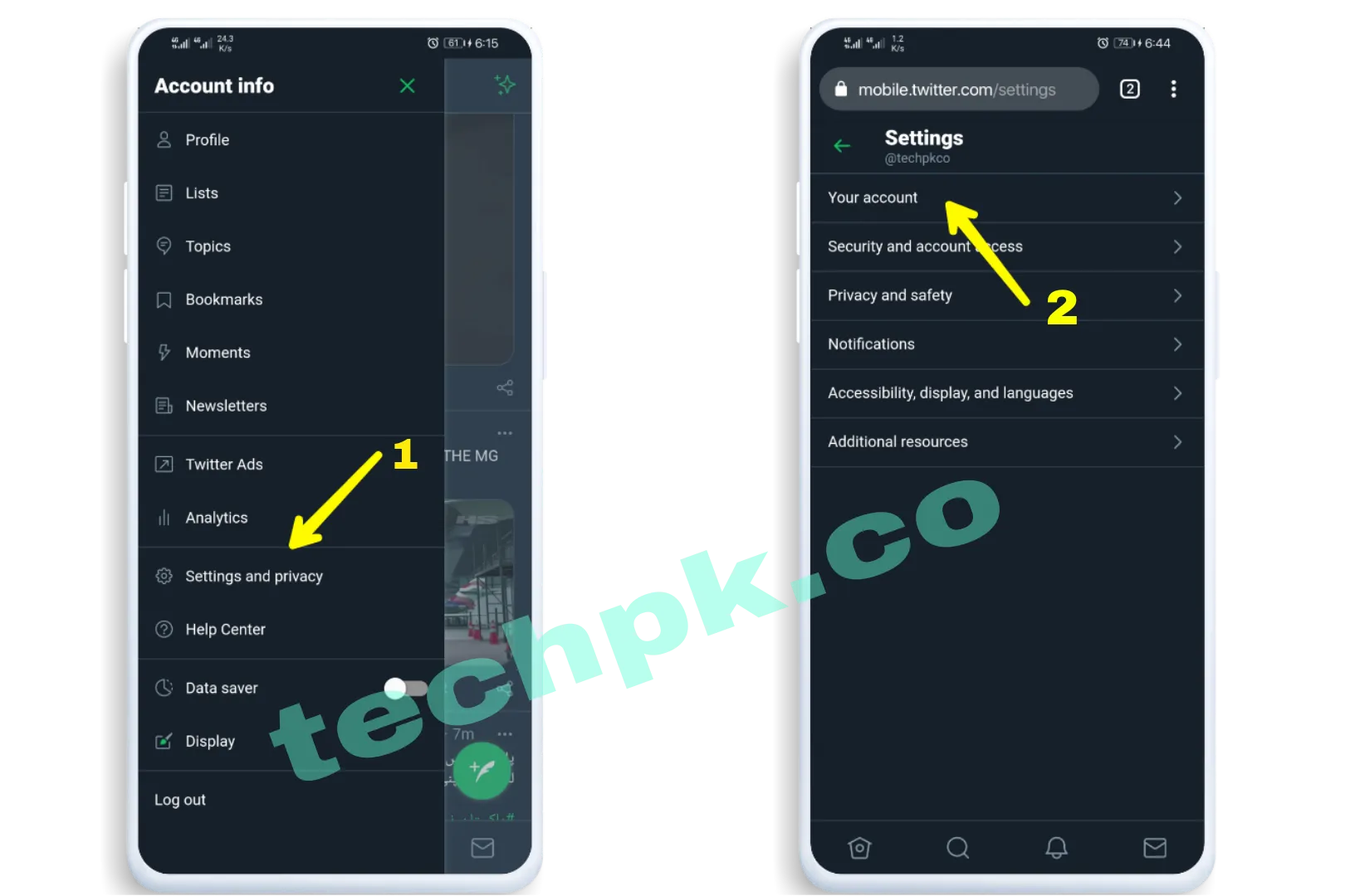 How to Delete Twitter Account on mobile phone
