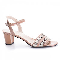 Sandale Piele Revali nude cu toc