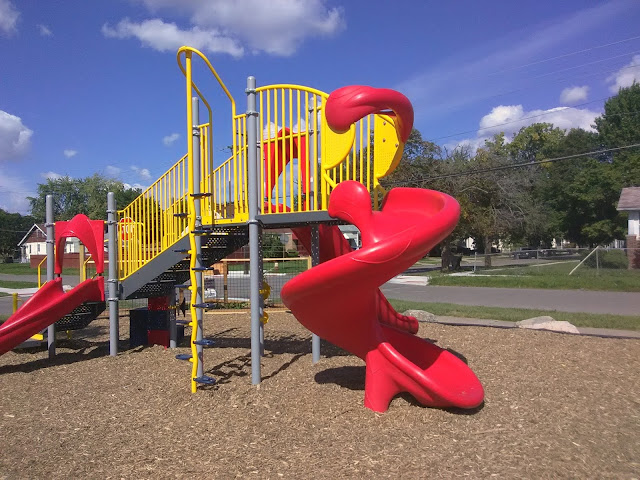 vacant lot transformed into playgound in detroit
