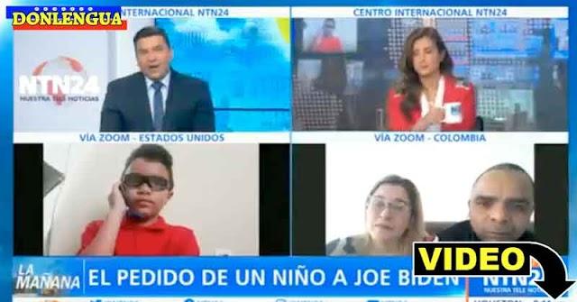 Niño venezolano en EEUU le pidió ayuda a Biden para volver a ver a sus padres
