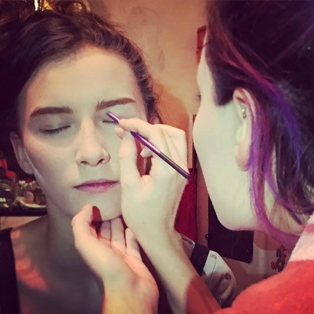 Prom make up practice