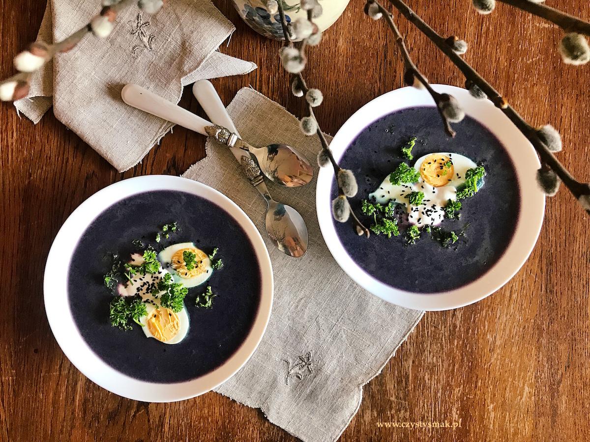 Fioletowa zupa z kapusty