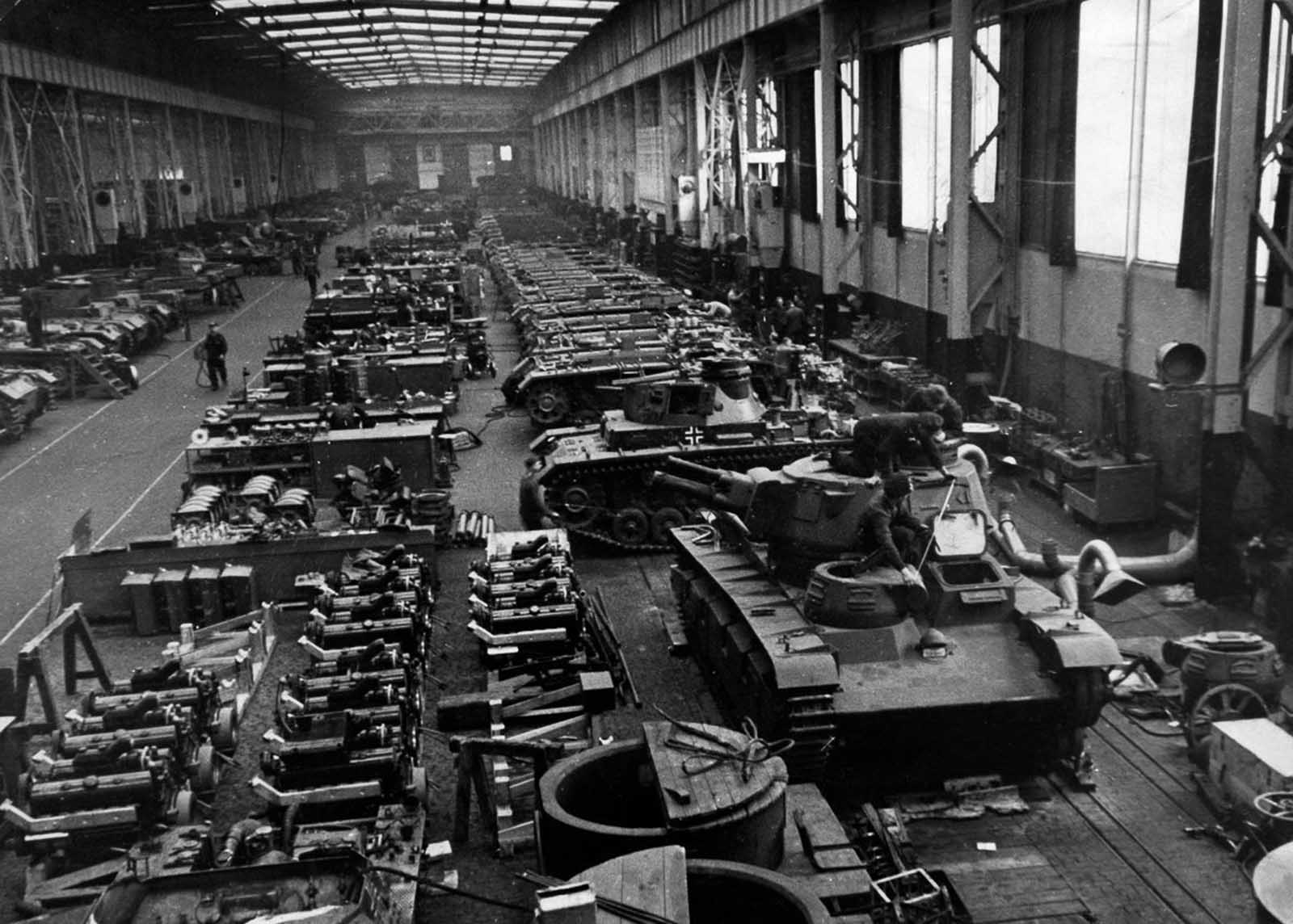 A German tank factory. 1940.