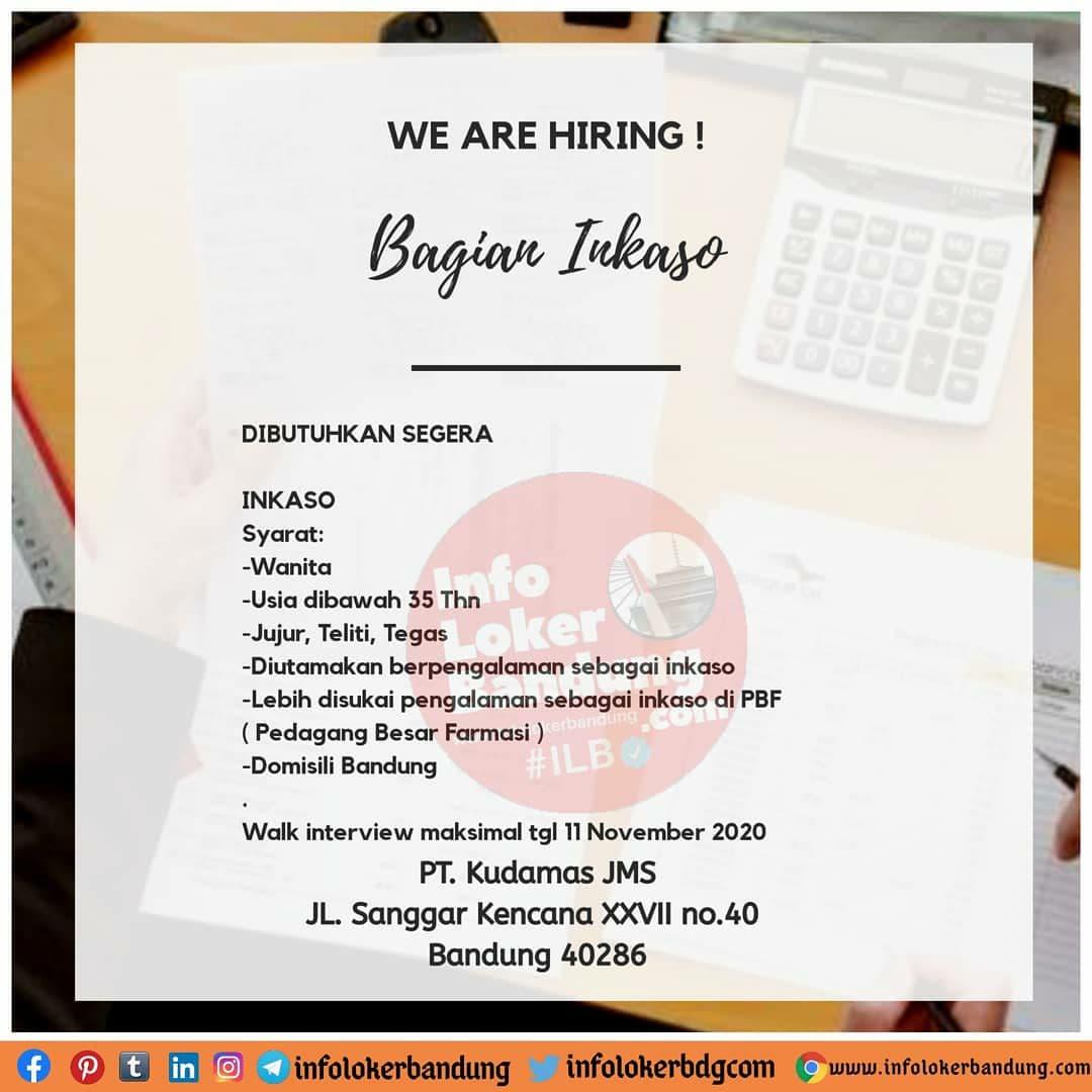 Lowongan Kerja Staff Inkaso PT. Kudamas JMS Bandung November 2020