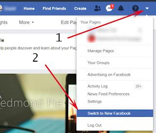 بهذه الطريقة يمكنك الحطول على واجهة الرسومية الجديد للفيسبوك الويب